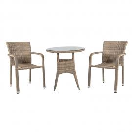 Aiamööbli komplet LARACHE laud ja 2 tooli